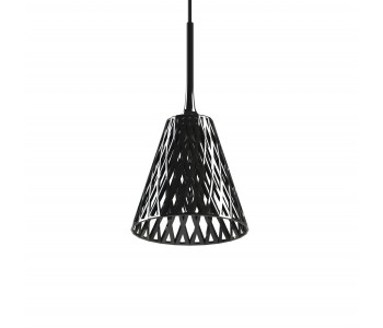 Wicker pendant lamp Julius Blaauw in black