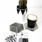 Seco coasters for cups or pans