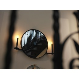 Functionals 101 Candelabra Mirror with candles in black
