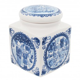 Storage Jar Delft Blond by Blond Amsterdam with typical Dutch scenes