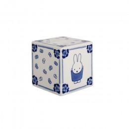 Nijntje cube money box from Royal Delft in Delft Blue porcelain