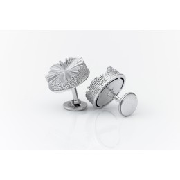 Amsterdam Canal Cufflinks by Studio Seroj de Graaf in sterling silver