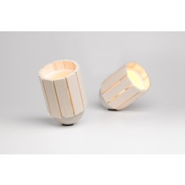 Baby Barrel Lamps in a natural color