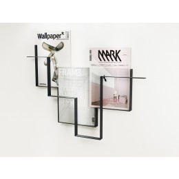 Magazine rack dark grey metal Guidelines Studio Frederik Roijé Dutch design