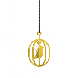 Perfect gift for her: Happy bird necklace yellow