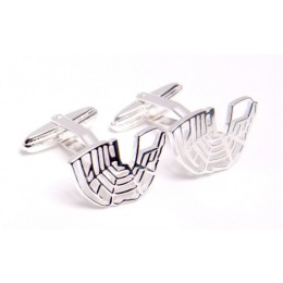 Canals of Amsterdam cufflinks by Studio Admiraal in sterling silver