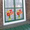 Flat Flowers window decoration