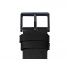 Black strap and buckle of Piet Hein Eek tube D38 watch for LEFF amsterdam