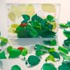 Kunststof groene bladeren met een magneet; decoratief in huis