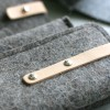 Felt glasses case Richmond blended grey - dutch made by Rowold Amsterdam