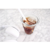 Totally hip: a crushed glass that looks like a crushed plastic coffee cup