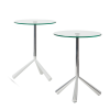 Designer side tables Tripodi Cascando white