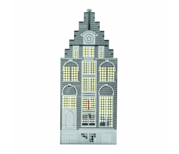 Holland Design, Invotis, Homeware, Wohnaccessoires, Kerzenhalter, Grachtengebäude, Edelstahl