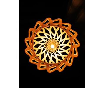 Holland Design, 3D-Druck, 3D-gedruckte Lampe, geöffnetes Twist-Muster