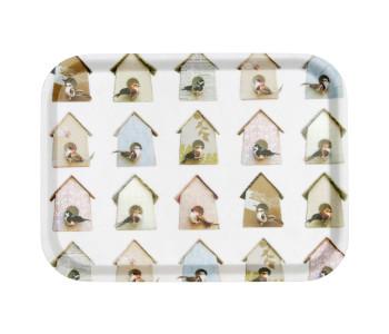 Tablett Vögel und Häuser von Studio Ditte
