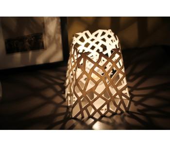 EoN 3D gedruckte Tischlampe im Wohnzimmer