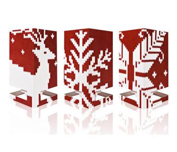 Winterliche Abbildungen Frozen Fire der Serie Cardles