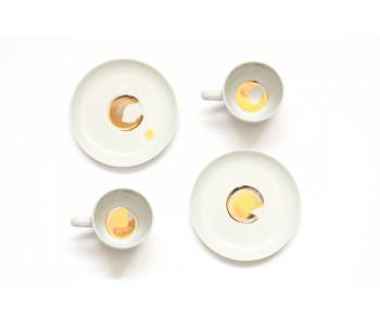 Espresso Tassen Porzellan Golden Dirt
