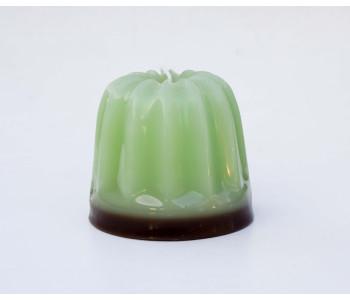 Design-Kerze Dessert von Atelier OZO in der Farbe Grün