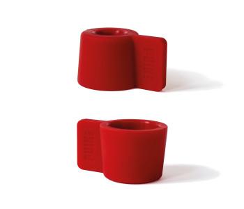 Der Silly Kerzenhalter in der Farbe Rot für eine gemütliche Weihnachtsstimmung