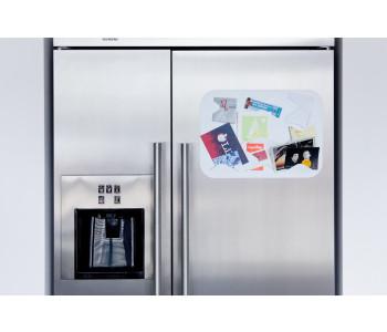 Magnet für Kühlschrank oder Spiegel in Schwarz