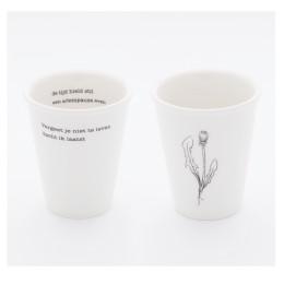 Plint Poesie, Becher mit Gedicht, Martin Bril, Kees Hermis