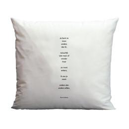 Plint Poesie Kissenbezug Je bent zo von Hans Andreus