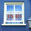 Fensteraufkleber Flat Flowers Delfter Rot