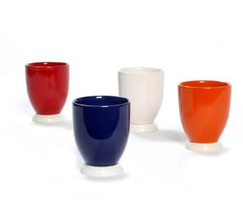 Beker Hollands Blauw in rood, wit, blauw en oranje