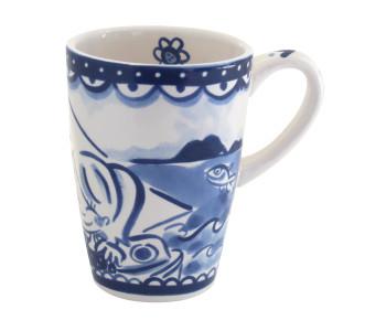 Beker XL Delfts Blond in blauw wit aardewerk van Blond Amsterdam