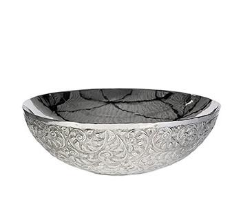 Flower bowl, metalen schaal van Pols Potten