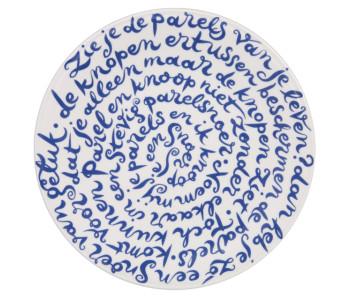 Diskus bord geluk van Royal Delft Delfts Blauw porselein