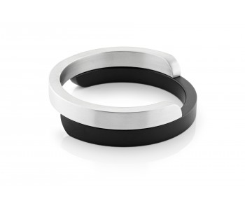 Dutch Design Clic armband van Clic Creations in aluminium met zwart