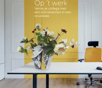 Vouwvaas Big bouquet is een leuk relatiegeschenk en koop je bij shop.holland.com