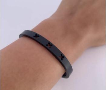 Amsterdam Armband S zwart staal koop je bij shop.holland.com