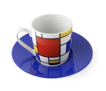 Cadeautip: Koffiemok met Mondriaan print