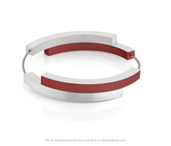 Clic A32R Armband Zilver en Rood van Clic by Suzanne bij shop.holland.com