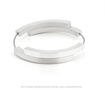 Clic A32 Armband Zilver Mat/Glans van Clic by Suzanne at shop.holland.com
