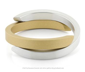 Clic Armband A1G mat zilver en goud koop je bij shop.holland.com