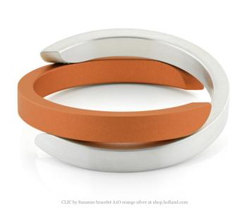Clic Armband A1O mat zilver en oranje bij shop.holland.com