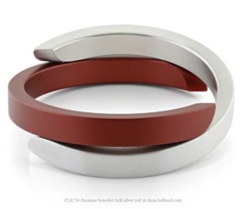 Clic Armband A1R mat zilver en rood bij shop.holland.com