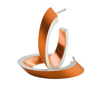 CLIC by Suzanne O21O oorbellen in oranje en zilver aluminium bij shop.holland.com