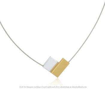 Clic by Suzanne ketting C150G goud en zilver aluminium vind je bij shop.holland.com
