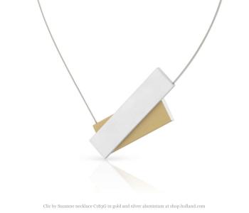 Clic by Suzanne C183G ketting in goud en zilver aluminium bij shop.holland,com