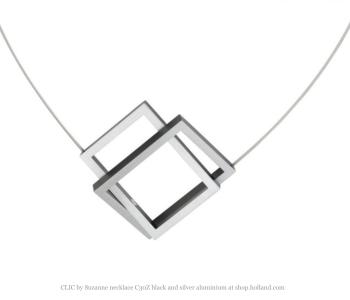 CLIC by Suzanne collier C30Z zwart met silver aluminium bij shop.holland.com
