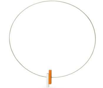 Clic ketting C116O oranje en zilver aluminium bij shop.holland.com