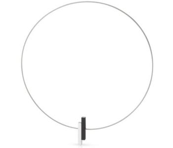 CLIC by Suzanne C116Z ketting in zwart met zilver aluminium vind je bij shop.holland.com