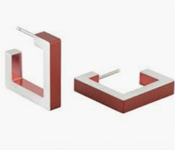 O11R van Clic by Suzanne - aluminium oorbellen voor optimaal draagcomfort - clic 011 rood bij shop.holland.com