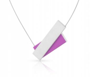 Dutch design ketting C183 paars met onzichtbare magneetsluiting van Clic by Suzanne