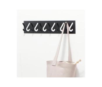 Gispen design 1x6 kapstok in de kleur zwart met 6 haken